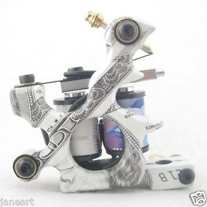 One 10 Wrap Coils Aluminum Alloy Tattoo Machine Gun for Kit Set Supply GAM32
