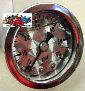 Engine Turned 60 PSI Fuel Oil Air Hyd Pressure Gauge