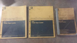 Caterpillar 936 Track Type Loader Operation Parts and Maintenance Manuals
