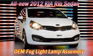 All New 2012 Kia Rio Sedan Genuine Fog Light Lamp Assy Left Right Set