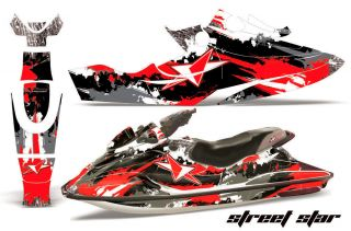AMR Racing jetski Graphic Decal Wrap Kit SeaDoo GSX 96 99 Jet Ski Parts Star Red