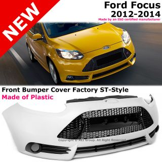 Ford Focus 12 14 St Style Conversion Front Bumper Cover Plastic Unpainted Kit