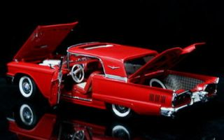 Danbury Mint 1960 Ford Thunderbird Diecast 1 24 Scale Red w Free Display