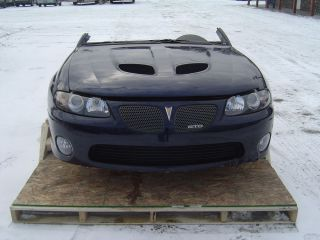 05 GTO Front Clip Nose Headlights Bumper RAM Air Hood Air Bags Midnight Blue