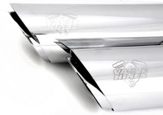 "Vance Hines 3"""" Round Twin Slash Slip Ons Chrome 16843"