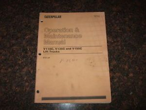 Cat Caterpillar V110C V135C V155C Forklift Operation Maintenance Manual 8TG1 Up