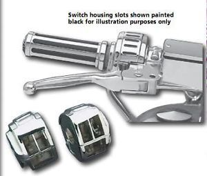 Chrome Switch Housings Harley FLHR FLHRC Road King Touring 1994 1995