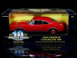 1969 Dodge Charger 500 Ertl American Muscle Le Diecast 1 18 Scale Red