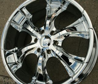Akuza OJ 437 22 x 9 5 Chrome Rims Wheels GMC Yukon Denali 07 Up 6H 32
