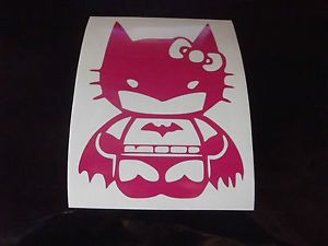 Hello Kitty Batman Car Window Decal Sticker Pink