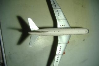 Vintage 1960's Tin Litho Battery Toy Airplane Pan American Cragstan Clipper