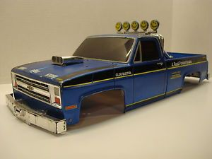 Vintage Original Tamiya Clodbuster Chevy Truck Body w Headlight Kit RC Parts