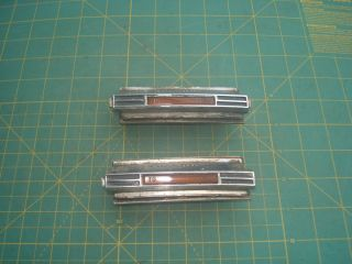 Vintage Pair 1969 70 Mustang RAM Air Mach I Hood Scoop Turn Signal Lights
