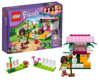 New Lego Friends 3938 Andrea's Bunny House Minifigure Playset Bricks 62 PC Set 673419165815