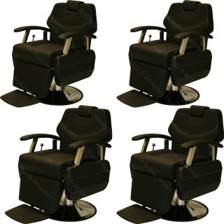 4 x Classic Professional Hydraulic Reclining Barber Chair Beauty Salon Equipment