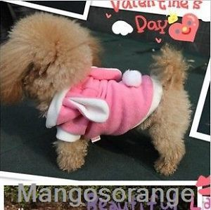 Cute Rabbit Plush Dog Apparel Pet Hoodie Costume Clothes Suit Coat s M L XL New