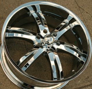 Akuza Dominion 701 22 x 9 5 Chrome Rims Wheels Yukon Denali 99 Up 6H 15