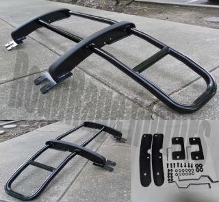 06 10 Hummer H3 H3T Front Center Hood Brush Grille Guard Black Steelcraft