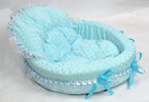 Princess Cute Cozy Warm Soft Lace Pet Bed House for Dog Puppy Cat Blue Set