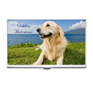 Golden Retriever Dog Puppy Puppies Business Card Holder