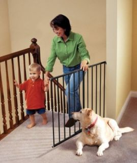 Kidco Safeway Stairs Doorway Wall Mounted Steel Pet Dog Gate G20 Black G2001