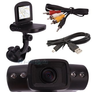 "4 LED 2 5"" LCD HD Car DVR Camera Video Road Recorder Audio Camcorder Monitor"