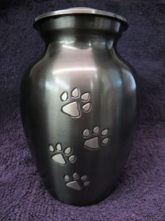 Medium Pet Urn for Cat or Dog Memorial Cremation Special Pet Brass Pewter