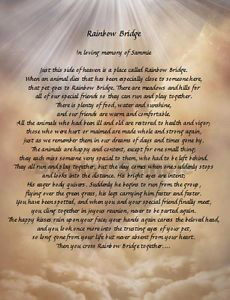 Rainbow Bridge Personalized Poem Loss of Pet Memorial