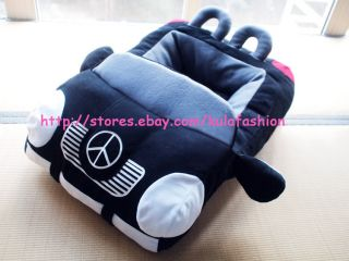 Warm Fashion Dog Cat Pet Car Shape Bed House Kennel Best Gift Black Red Color