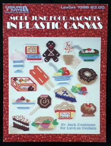 Junk Food Magnets Plastic Canvas Patterns Donut Chocolate Popsicle Pie