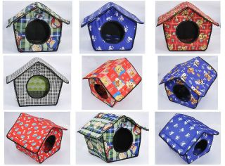 Hot Soft Pet Dog Cat Bed House Kennel Doggy Warm Cushion Basket 7 Style Size L