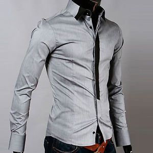 Stylish Amazing Men's Casual Slim Fit Dress Shirts Long Sleeve Basic Tops Tee