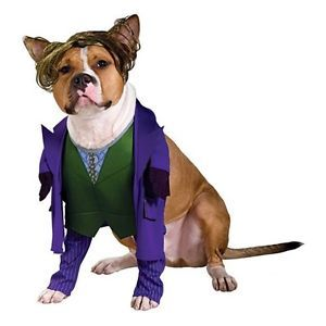 Batman Dark Knight The Joker Clown Cute Dress Up Halloween Pet Dog Cat Costume