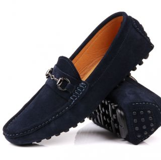 US6 12 Suede Leather Casual Slip on Loafers Mens Driving Car Shoes Moccasin Boot