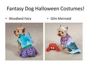 Glim Mermaid Woodland Fairy Fantasy Halloween Costumes Dog Pet Puppy XS L