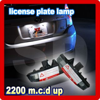 Toyota Matrix AZE14 Prius Venza GGV1 Lexus CT200H LED License Plate Lamp Light