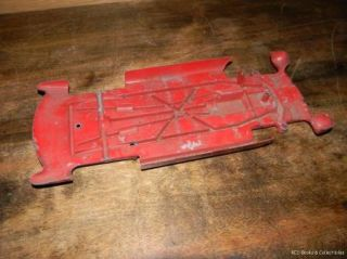 Hubley Red Corvette Number 509 Chassis Only Scale 1 16 Cast Metal Parts Car Only
