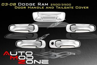 03 08 Dodge RAM 2500 3500 Chrome 4 Door Handle Tailgate Cover Combo w O PSG KH