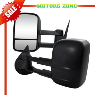 07 13 Silverado Sierra Pickup Towing Manual Telescoping Mirrors Set LH RH Pair