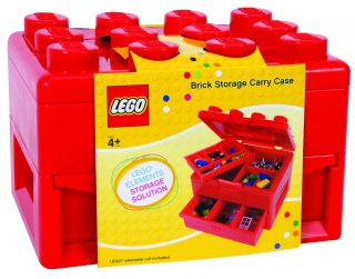 Lego Deluxe Brick and Minifigure Storage Carrying Case with Pull Out Drawer 762016441269