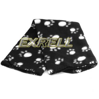 Paw Print Dog Cat Pet Fleece Blanket Puppy Kitten Bed Soft Mat Car Seat Cover