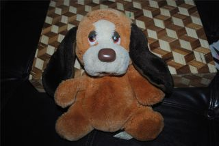 Russ Berrie Baxter Plush Puppy Dog Puppet Vintage 1970's RARE Retro