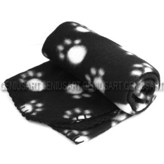 Hot Sell Cute Soft Warm Towel Paw Prints Pet Puppy Dog Cat Fleece Blanket Mat