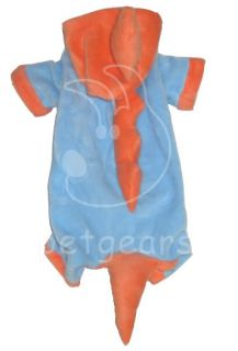 Pet Dog Cat Dino Halloween Costume Blue Orange Small Apparel Size 10 12 14 18