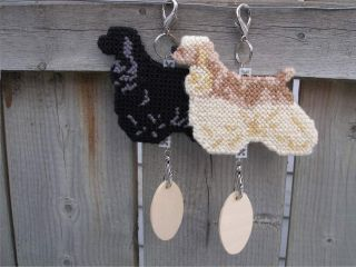 1 Cocker Spaniel Dog Crate Tag Hanger or Display Anywhere Pet Art American