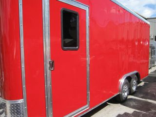New 8' by 20' Commercial Concession Trailer Red Restaurant Catering Food Cart