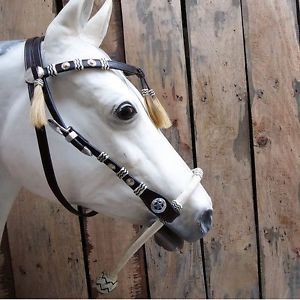 Hilason Western Rawhide Braiding BITLESS Headstall Bridle Bosal with Reins BB105