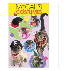 Sewing Pattern McCall's M5215 Dog Cat Pet Clothes Halloween Costumes Collars