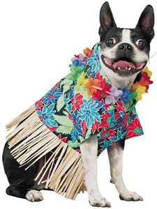 Tiki Fun Pet Dog Hawaiian Luau Costume Outfit Size XS