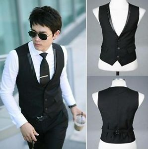 MC61 Men's Fashion Slim Casual Vests waistcoats Coat Business Suit M L XL XXL